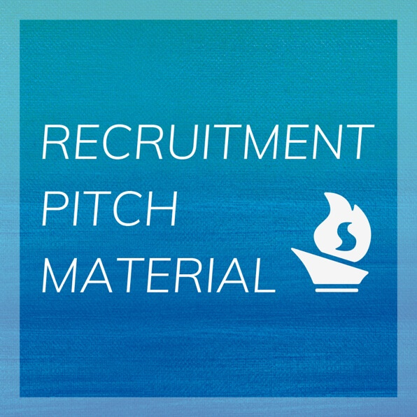 Recruit pitch material